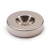 Неодимовый магнит диск 11х6 мм с зенковкой 3,5/4 мм