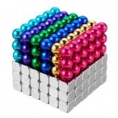 Неокуб 5мм разноцветный 6 цветов + тетракуб серебряный
