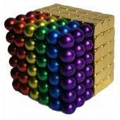 Неокуб 5мм разноцветный 6 цветов + тетракуб золотой