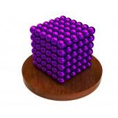 Куб из магнитных шариков 5 мм (фиолетовый), 216 элементов