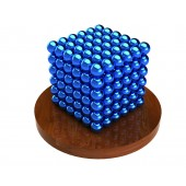 Куб из магнитных шариков 5 мм (голубой), 216 элементов