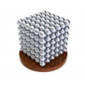 Куб из магнитных шариков 7 мм (серебрянный), 216 элементов