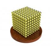 Куб из магнитных шариков 2,5 мм (золотой), 512 элементов