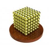Куб из магнитных шариков 5 мм (золотой), 216 элементов